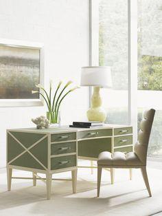 Sligh Studio Designs Sea Mist Writing Desk, available through select Stickley, Audi & Co. showrooms
