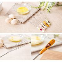 Compact Fashion Ceramic Handle Stainless Egg Beaters Whisk Creative Kitchen Cake Baking Mixer Stirring Kitchen Tools