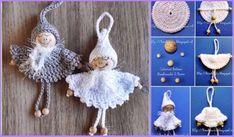 Crochet Bead Angel Ornament Free Pattern