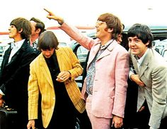 John - pink suit? Must have been in touch with his feminine side.