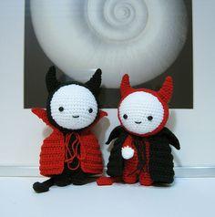 Amigurumi Crochet Doll in Devil Costume