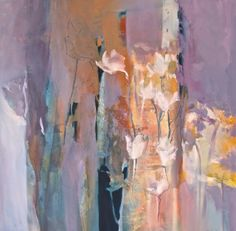 Joan Fullerton Paintings: Abstract Mixed Media Botanical Landscape Painting ...