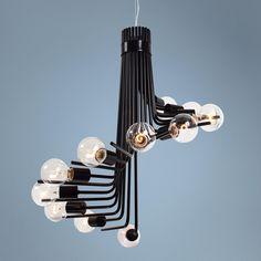 """Varaluz Socket-to-Me 26"""" Wide Light Bulb Cluster Chandelier"""