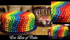 M&m Rainbow Cake