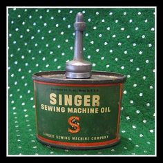 Vintage Singer Oil Can fits Featherweight 221 sewing machine case clip   $26