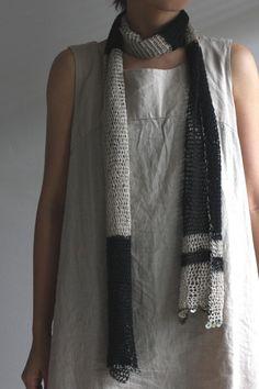 Fishnet black scarf (2 ways)
