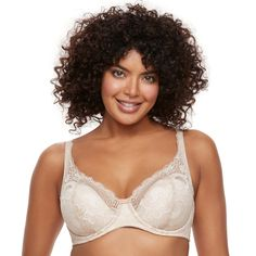 Plus Size Playtex Bras: Love My Curves Beautiful Lift Lightly Lined Full-Figure Underwire Bra US4514, Women's, Size: 44 C, Lt Brown