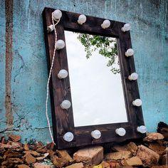 Оборудование :: Оборудование для визажистов :: Зеркало с подсветкой :: Зеркало с подсветкой DARK, 80х60 см Mirror With Spotlights, Vanity, Frame, Creative, How To Make, Design, Home Decor, Mirrors, Room Ideas
