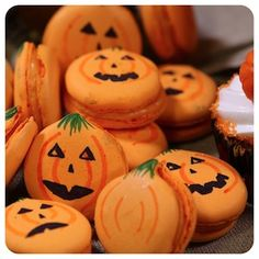 Macaron de Laranja com Gengibre - Receita de Halloween