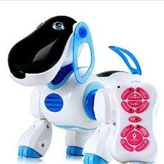 """Foxnovo Infrarot-Fernbedienungs Roboter-Hund (OriginalBezeichnung: """"Foxnovo Infrarot-Fernbedienung RC-Smart singen Tanzen Walking Robot-Hundespielzeug (blau)"""""""