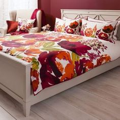 Isabella Burnt Orange Quilt Cover Set, Available in 4 Sizes Starting from £55   brandinteriors.co.uk