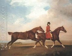 William Anderson with Two Saddle-horses 1793 - George Stubbs - Oil Painting Reproductions