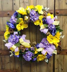 Grapevine bird spring/summer wreath by WilliamsFloral on Etsy, $95.00