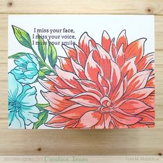 I Miss Your Voice, Miss Your Face, Cards For Friends, Friend Cards, Types Of Colours, Friendship Cards, Hero Arts, Crafty Projects, Clear Stamps