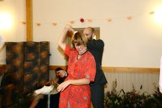 quirky fun wedding photography at manuden village hall, dancing!