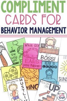 Why I Need Compliment Cards for behavior management in speech therapy {FREEBIE!}