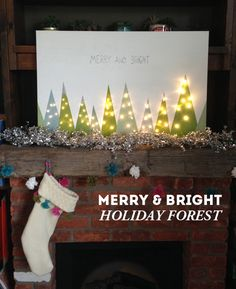 DIY merry & bright holiday art for your mantel / The Sweet Escape #christmas #holiday #decor