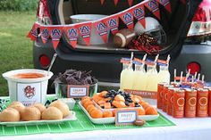 Creative Party Ideas by Cheryl: Football Tailgate Party with Custom Team Labels