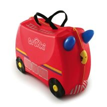 Trunki Children's Ride-On Suitcase & Hand Luggage: Frank Fire Engine (Red) Childrens Shop, Childrens Luggage, Kids Luggage, Hand Luggage, Travel Luggage, Luggage Bags, Christmas Shopping, Kids Christmas, Christmas Gifts