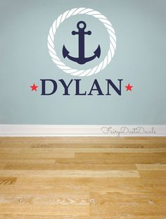 Hey, I found this really awesome Etsy listing at http://www.etsy.com/listing/124858039/anchor-wall-decal-with-boy-name