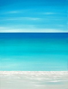 Beach Ocean Painting Modern Contemporary by ChrisMaestriGallery, $99.00