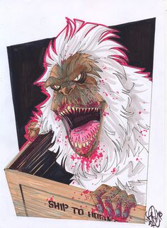 Creepshow crate monster by *snareser on deviantART