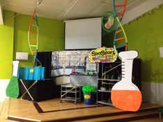 Sonspark labs 2015 --DNA helix from pool noodles is a great idea