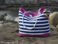 Hit the beach in style with your own gorgeous hand-crocheted beach bag.