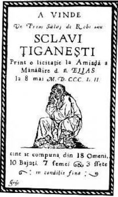 POSTER ADVERTISING A SLAVE AUCTION IN WALLACHIA, 1852