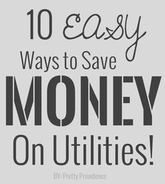 Love this post on 10 easy ways to save on utility bills! Actually some great ideas in here. Definitely pinning to remember!