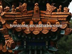 natural stone chip coated metal roof tiles chinese antique style #Atonement, #style