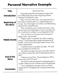 personal narrative essay sample 5th grade writing ideas pinterest personal narratives school and narrative writing - Personal Narrative Essay Examples