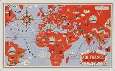 #Air #France #original #vintage #poster  manifesti originali d'epoca www.posterimage.it