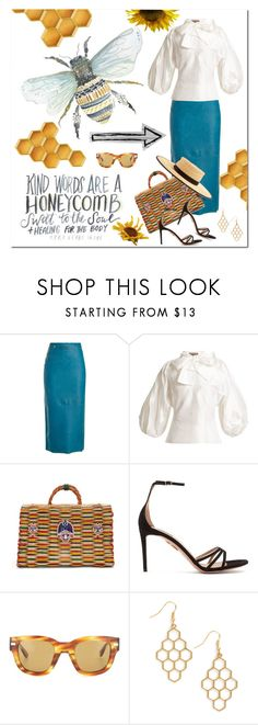 """Honeycomb"" by jacque-reid ❤ liked on Polyvore featuring Calvin Klein 205W39NYC, Duro Olowu, Heimat Atlantica, Aquazzura and Acne Studios"