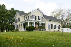Timeless and private Victorian clapboard. This is a home that is reminiscent of earlier times, when life was savored on a quiet front porch. 48+ acres of wooded land and sweeping pastures surround this private home once used as a sheep farm. The main house ...