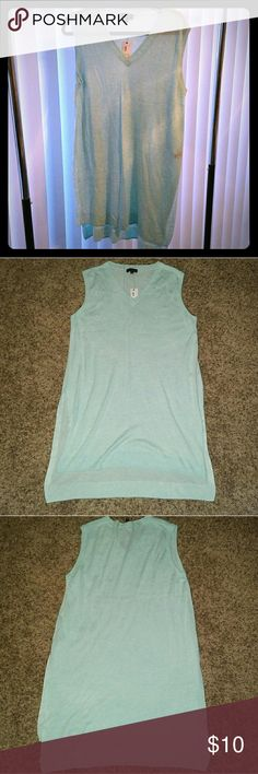 The Limited Tiffany Blue Sleeveless Tunic, Sz L The Limited, women's Tiffany Blue Sleeveless, v-neck Tunic. Brand new with tags The Limited Tops Tunics