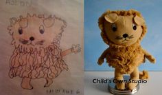 the company that makes incredible and high quality stuffed toys from kids drawings