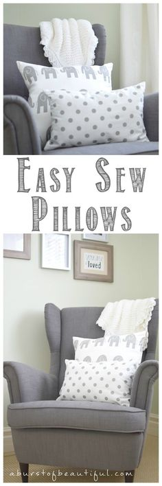 Easy Sew Pillows and Nursery Sneak Peek - A Burst of Beautiful