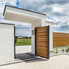 House Fence Design, Modern Fence Design, Modern House Design, Garden Design, Facade Architecture, House Front, White Wood, Beautiful Homes, Outdoor Decor