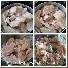 An Auspicious Hakka Dish–Hakka Abacus Seeds/Beads (客家算盘子) Home Recipes, Asian Recipes, Hakka Recipe, Famous Desserts, Malaysian Food, Yams, Dim Sum, Chinese Food, Seeds
