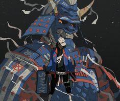 (20) nass (@nass9696) / Twitter Character Concept, Character Art, Concept Art, Urban Samurai, Cyberpunk Kunst, Arte Ninja, Samurai Artwork, Japanese Warrior, Character Design Inspiration