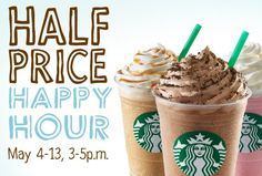 Starbucks Happy Hour: Frappuccinos 50% Off