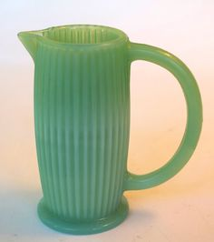 Beautiful Vintage Small Jadite Green Glass by retrowarehouse