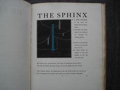 Rare Book The SPHINK by Oscar Wilde Illustarted by Alastair 1920 Limited to 1000 copys
