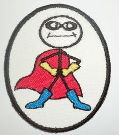 Iron-On Patch  SUPERHERO by NancysPatches on Etsy