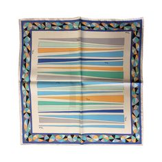 Emilio Pucci Ascot Small Scarf | From a collection of rare vintage scarves at https://www.1stdibs.com/fashion/accessories/scarves/