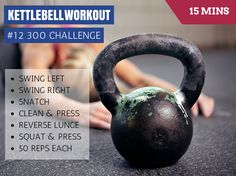 161102 300 Challenge Exercises One Handed Swing Snatch Clean & Press Reverse Lunge Squat & Press How to Perform the Kettlebell Workout Run through this circuit performing 25 reps per side and changing hands as many times as you need to. For the Swing its 50 reps per side. Only move onto the next exercise …