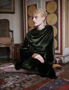 """""""The Lighthouse"""": Virginia Woolf and Bloomsbury Group-Inspired Shoot with Julia Nobis by Ben Toms for AnOther Magazine Fall/Winter 2013"""