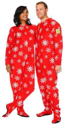 f2f4281549 Winter Snowflake Adult Footed Pajama. SnugOnesiesPajamasCozyHow ...