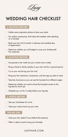 Planning a wedding? Save this checklist and start your hair journey at least 6 months priori, to ensure you have the perfect wedding hair on your big day. Wedding Hair Tips, Wedding Prep, Wedding Beauty, Wedding Planning, Dream Wedding, Wedding Ideas, Workout Plan For Women, Wedding Hair Inspiration, Hair Blog
